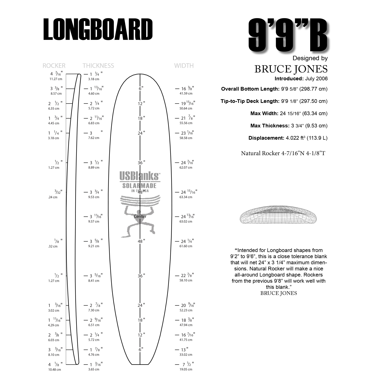 Surfboard Foam By Us Blanks 9 9 B Pu Longboard Blank