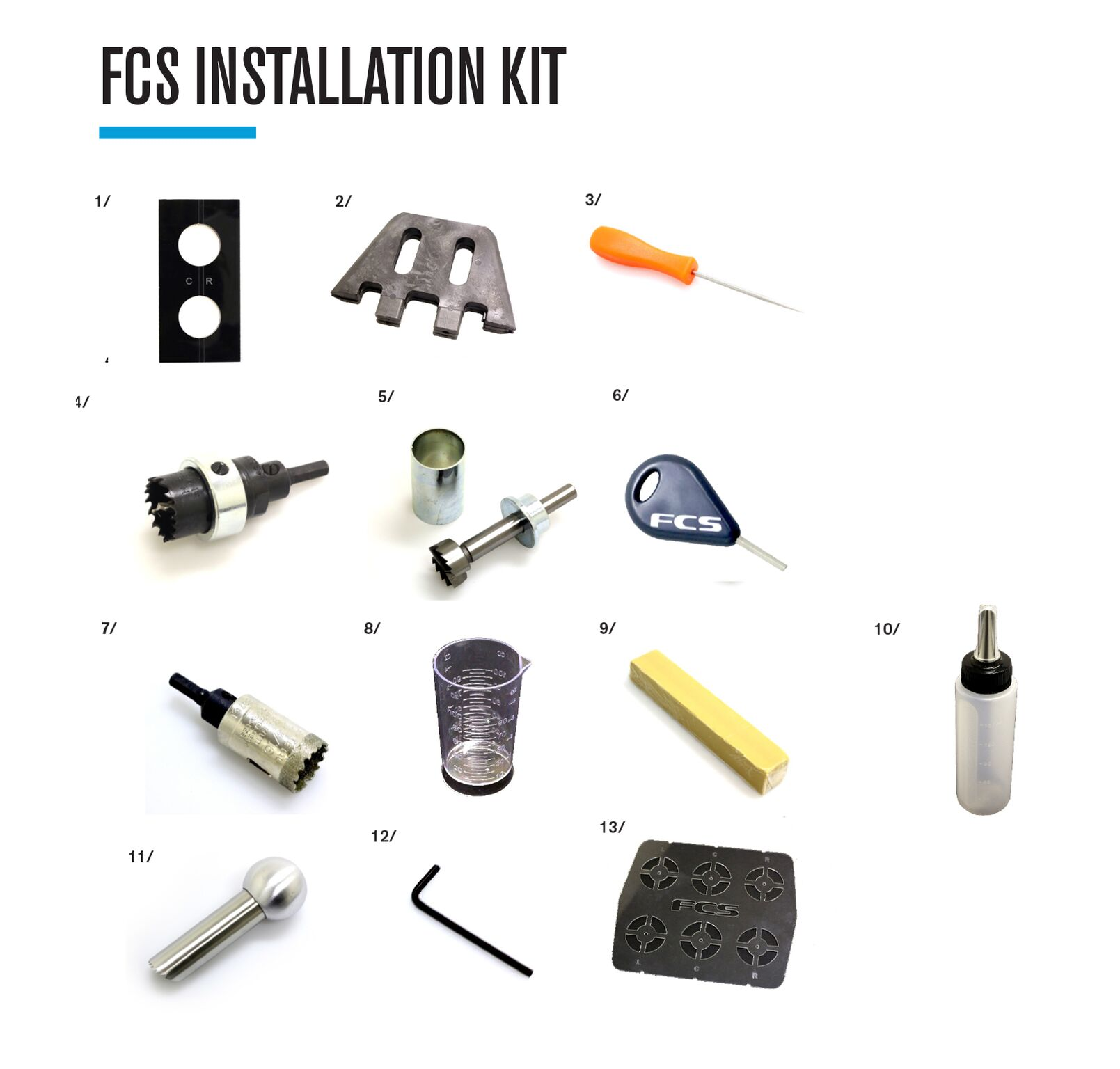 The Seabase FCS Tooling & Fitting Kit 2018 2019 for all FCS
